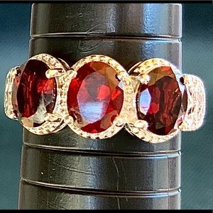 Mozambique Garnet Trilogy Ring